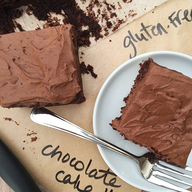gluten free sour cream chocolate cake recipe