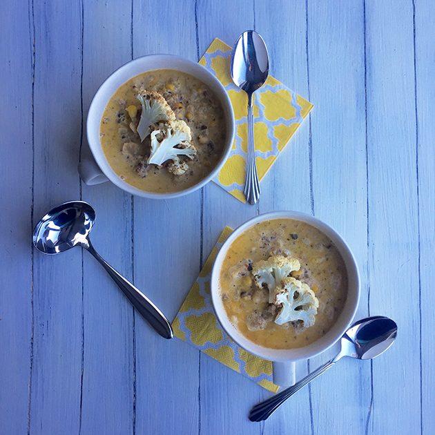 cauliflower bacon soup recipe