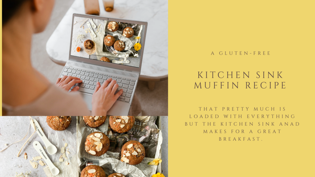 These gluten-free kitchen sink muffins are moist and not too sweet.