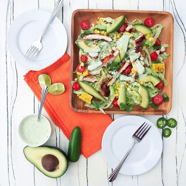 mexican chicken and corn salad recipe