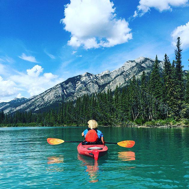 kayaking in banff