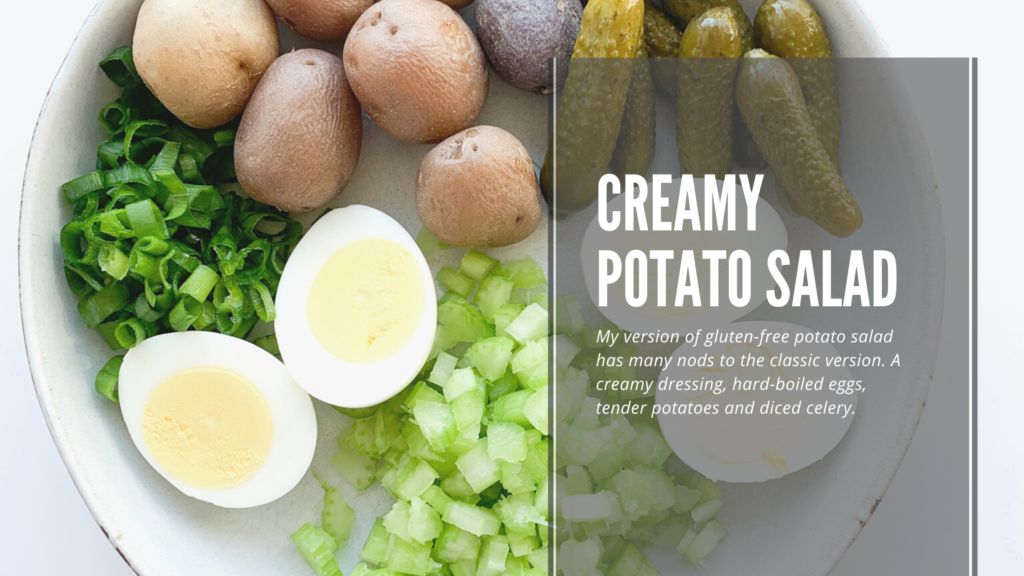 This easy gluten-free potato salad is simple to make, delicious and always a hit in the summer.