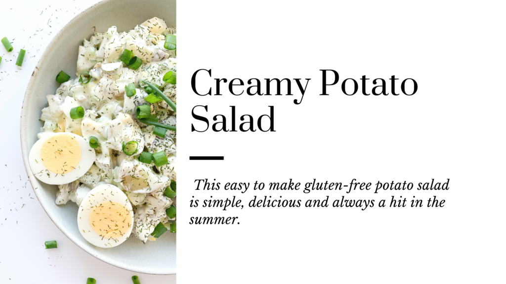 This easy gluten-free potato salad is simple, delicious and always a hit in the summer.