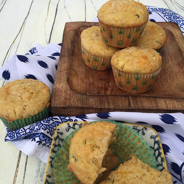 gluten free zucchini carrot parmesan muffins recipe