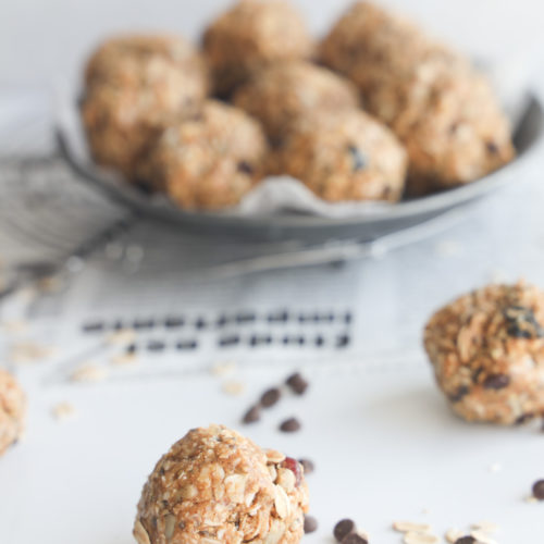 Gluten-free no bake nut and seed balls that are portable, healthy and simply delicious.
