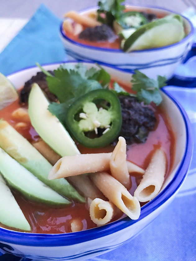 penne and meatball soup recipe