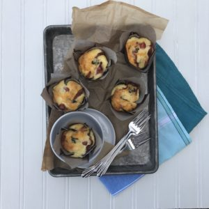 These gluten-free egg cups are super simple to make and are get for breakfast. I like to have them on hand for a grab and go snack but it is also a good low-carb snack in the afternoon.