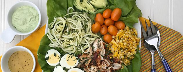 avocado grilled corn cobb salad photo recipe