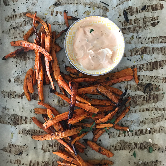 baked carrot fries recipe