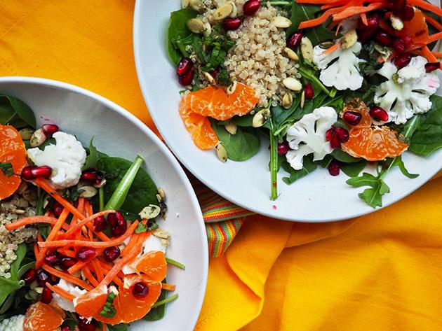 cauliflower orange salad lemony dressing recipe
