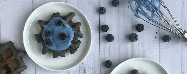 blue banana waffles recipe