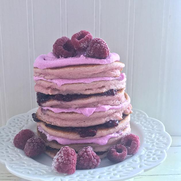 pink paleo pancakes recipe