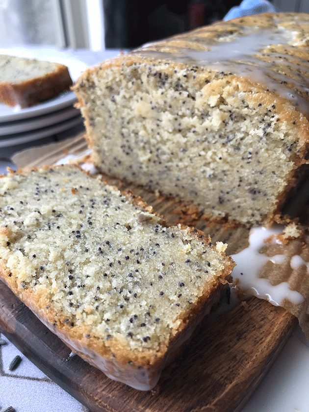 Grain free lemon lavender poppyseed loaf recipe