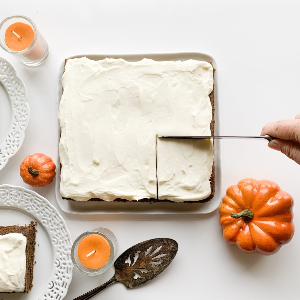 Gluten Free Gingerbread Sheet Cake Recipe