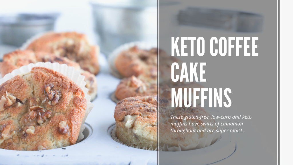 Keto coffee cake muffins that taste just like your favourite cinnamon sugar coffee cake.