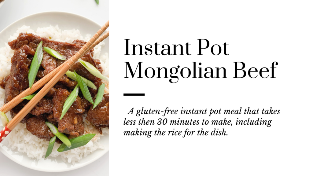 This gluten-free instant pot Mongolian Beef recipe is super easy and tastes as good as fast food.