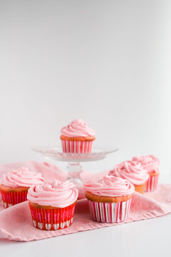 Gluten free pink cupcakes