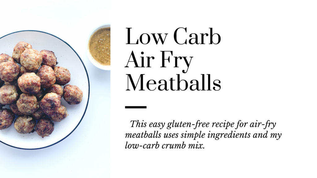 This easy gluten-free recipe for air fry meatballs uses simple ingredients.