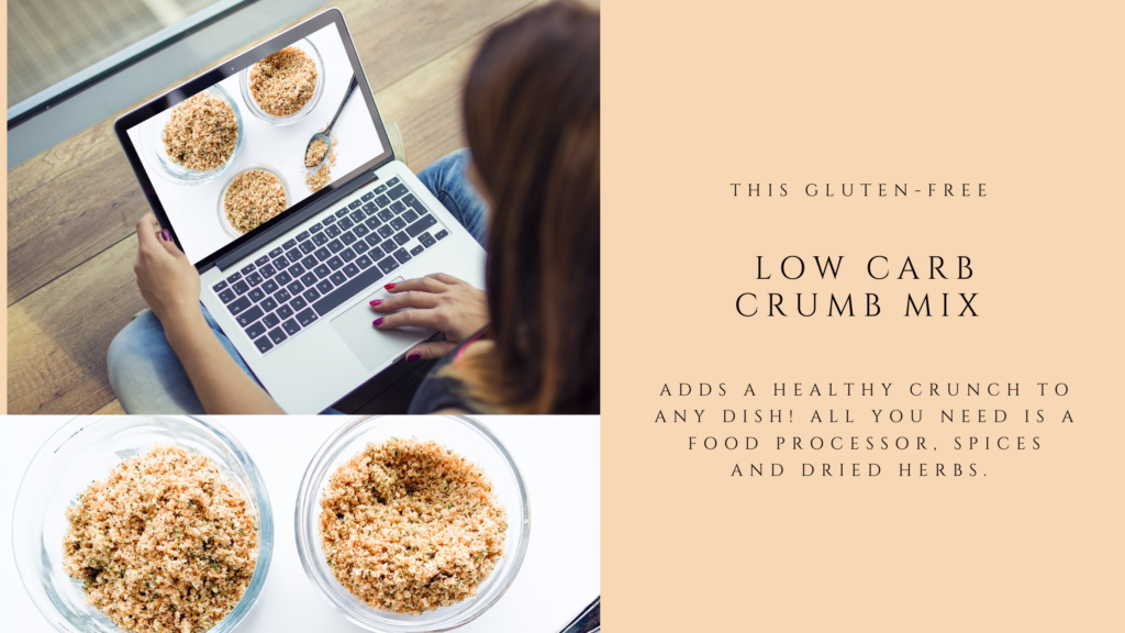 This low carb gluten-free crumb mix is a quick and easy recipe.