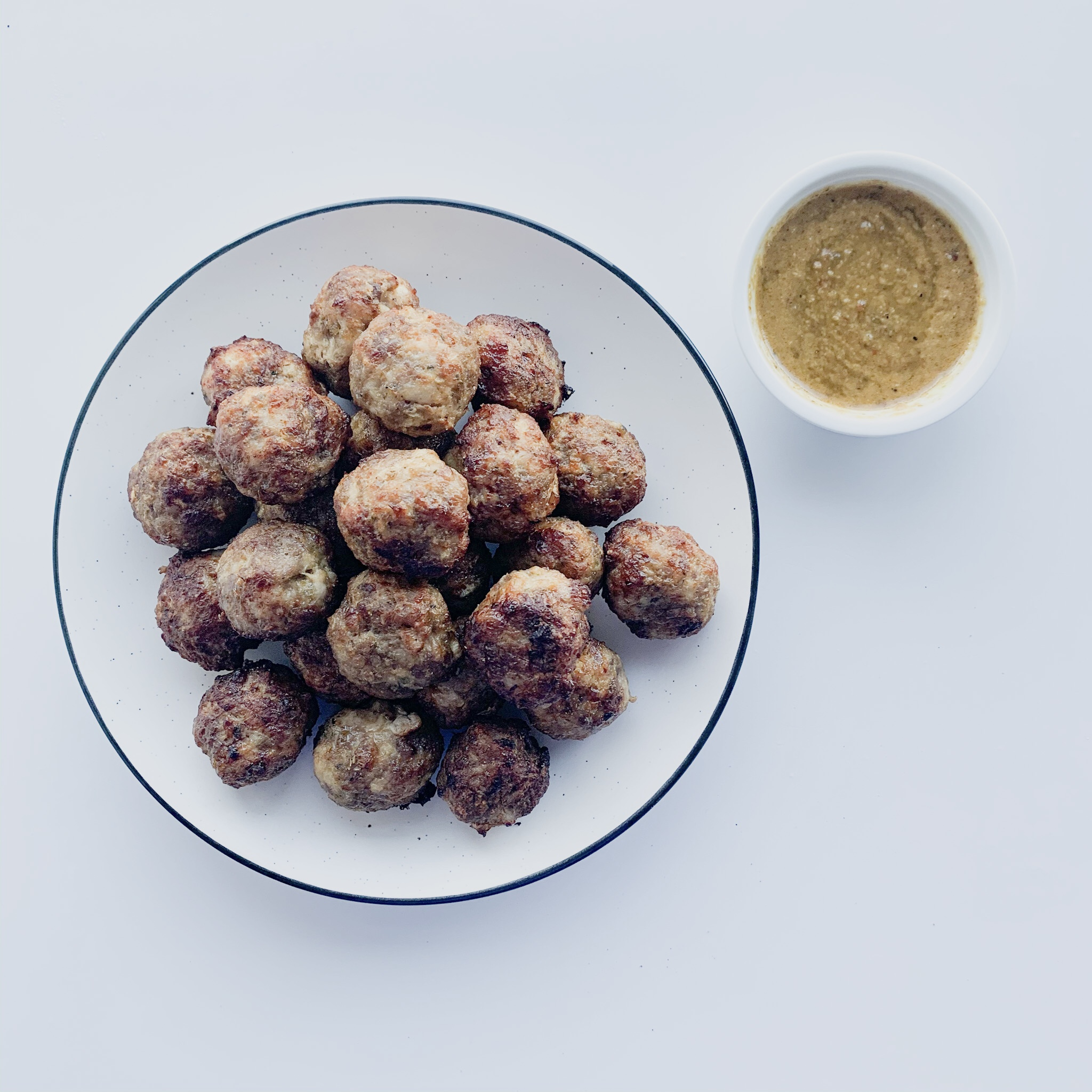 This easy gluten-free recipe for low carb air fry meatballs uses simple ingredients.