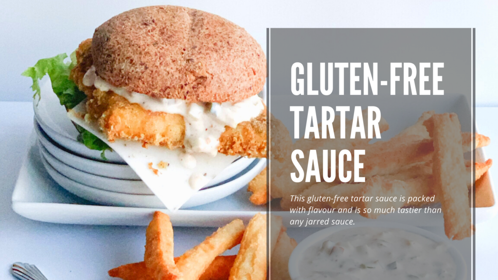 This gluten-free homemade tartar sauce is super easy to make.