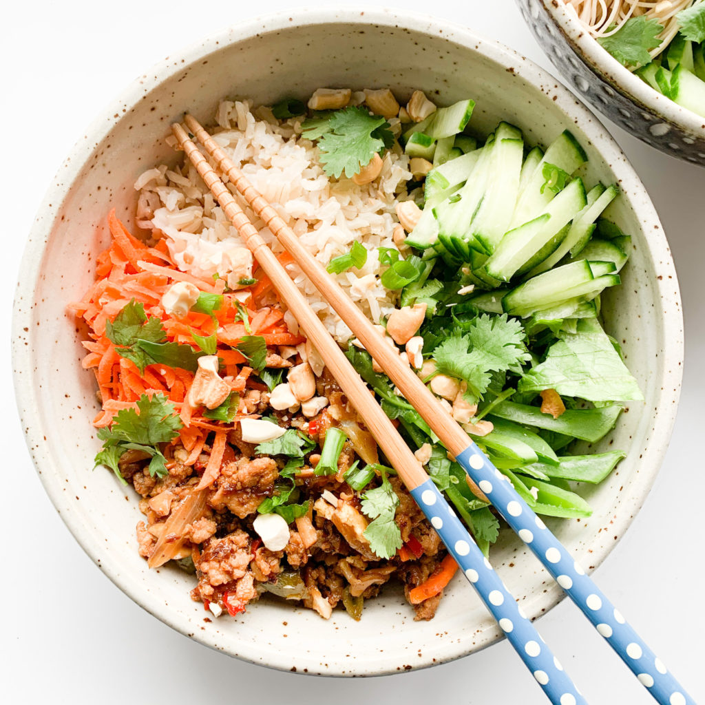 This Vietnamese inspired pork noodle salad is gluten-free and an easy dish to make at home. It is perfect for a summer meal or light dinner at home.