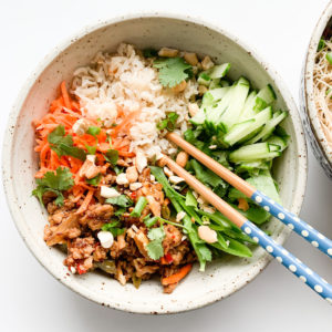 This Vietnamese inspired pork noodle salad is gluten-free and an easy dish to make.