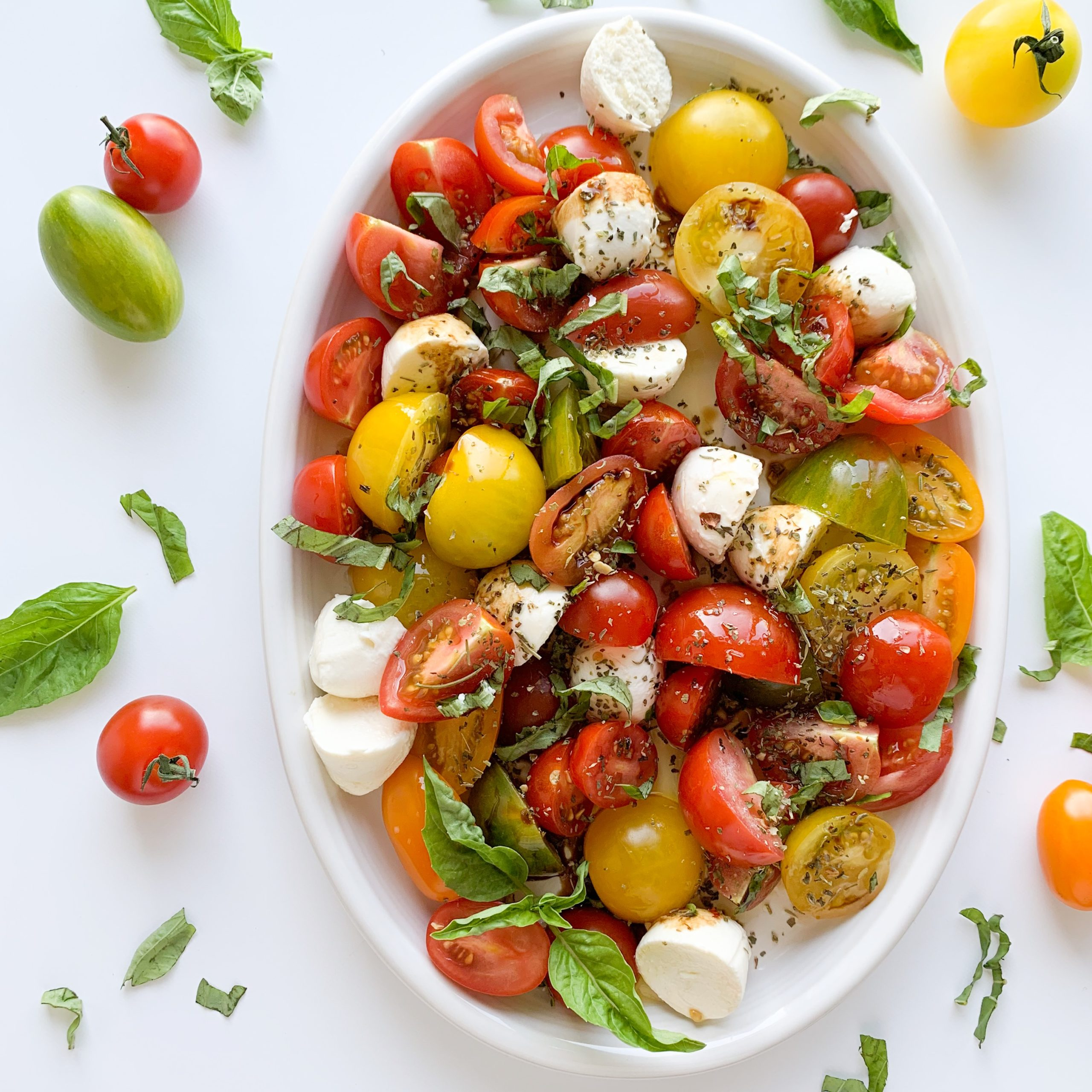 This easy gluten-free Caprese Salad takes less than 10 minutes to make and is the perfect summer salad.