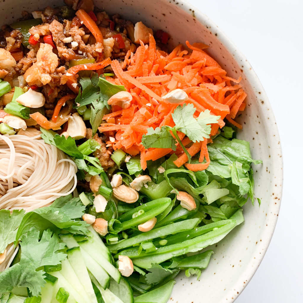 Sweet and Spicy Pork Noodle Salad