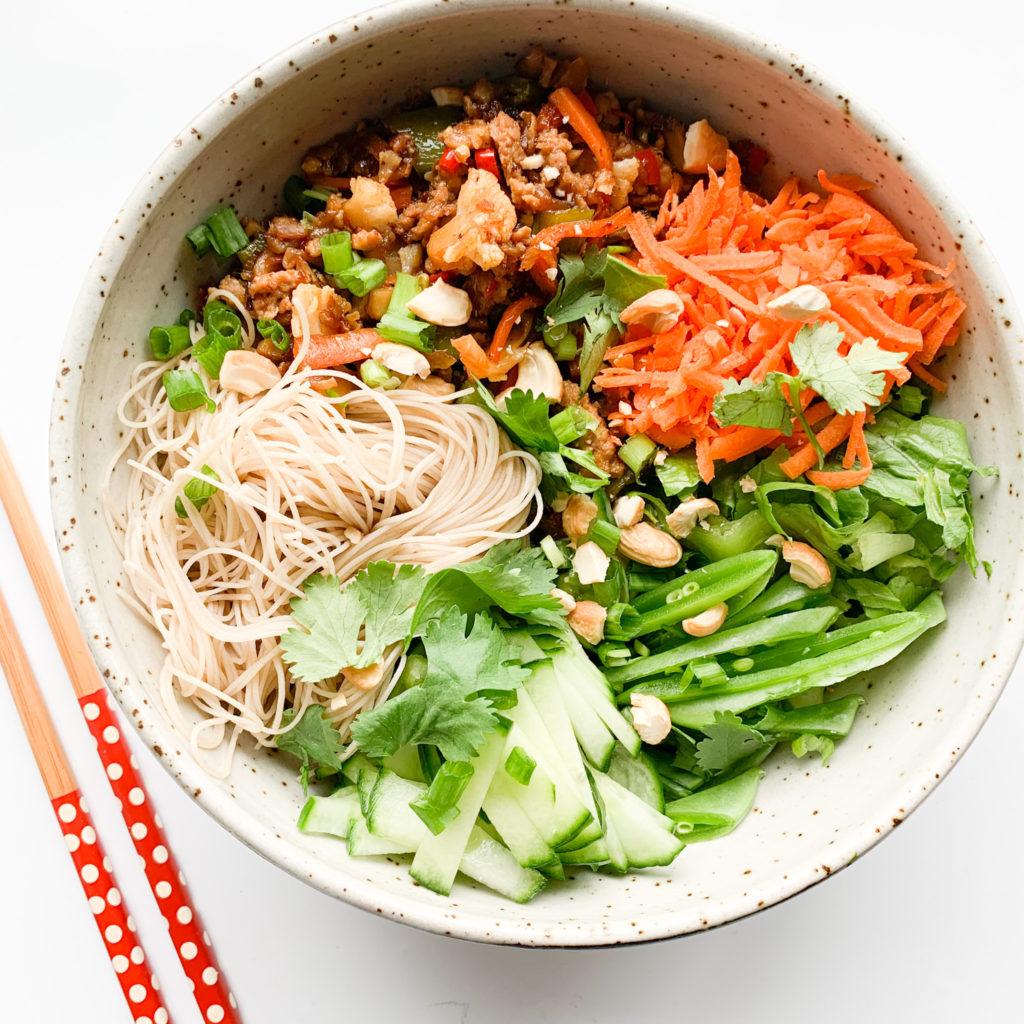 Sweet and Spice Pork Noodle Salad
