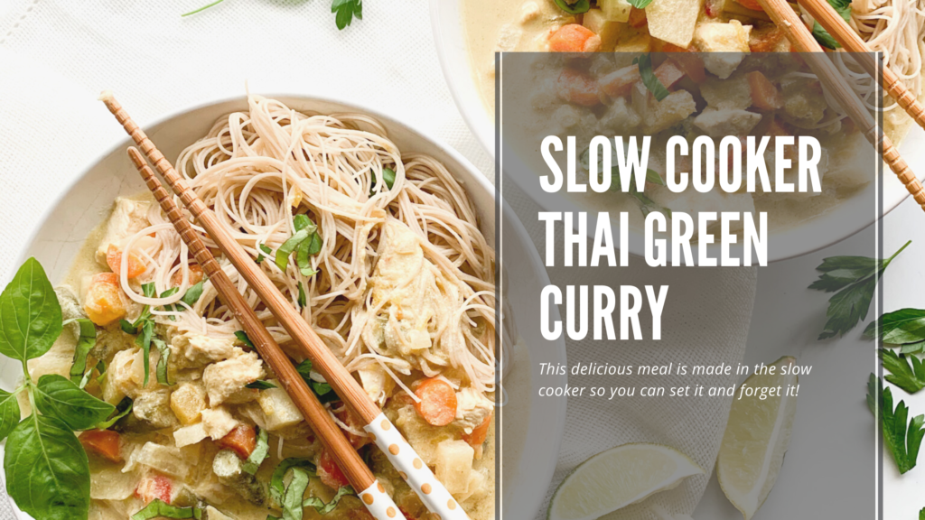This Thai green curry recipe is the perfect slow cooker dish.