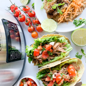 These gluten-free slow cooker pork carnitas are tender with crispy crunchy edges and are perfect for weeknight dinners.