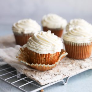 These gluten-free carrot cake cupcakes are tender, moist and lightly spiced. They are as easy as they are delicious.