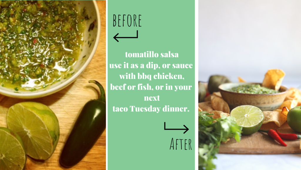This gluten-free tomatillo salsa is packed with flavour and is super simple to make in a food processor.