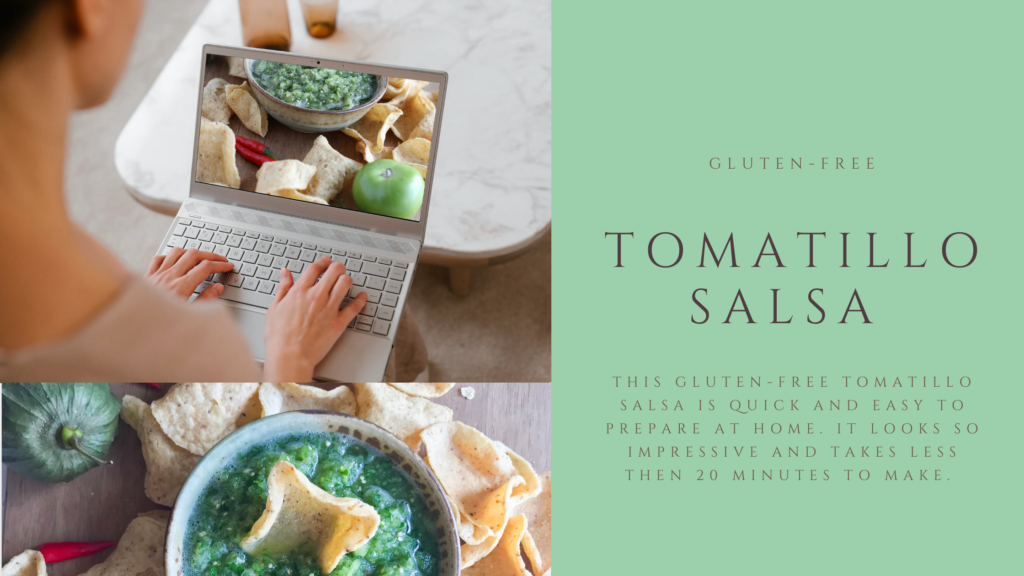 This gluten-free tomatillo salsa recipe is packed with flavour and is super simple to make in a food processor.