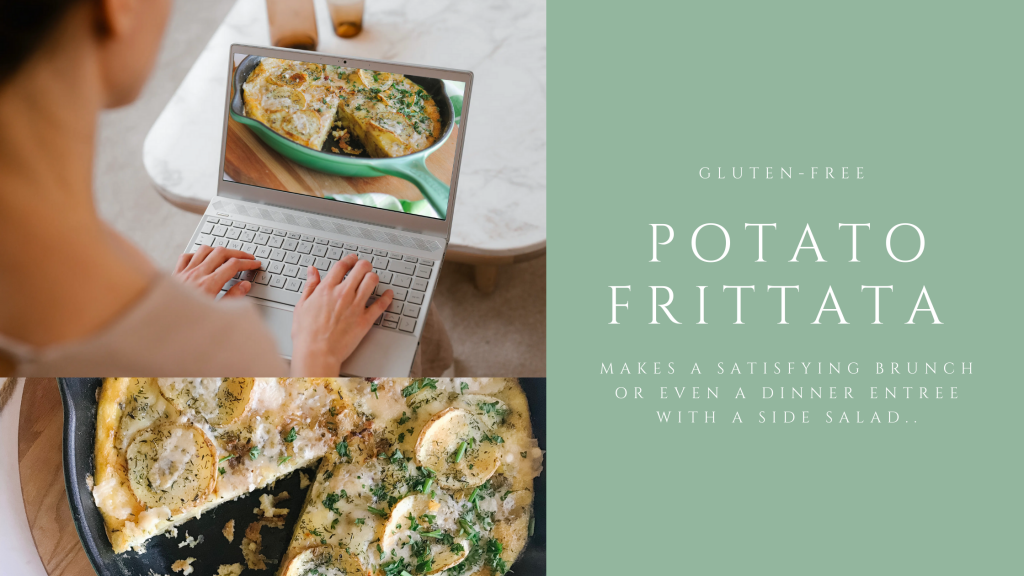 Potato Frittata is basically an omelette with potatoes and eggs cooked gently in oil. This dish is traditionally served at room temperature and is a great meal anytime of the day.