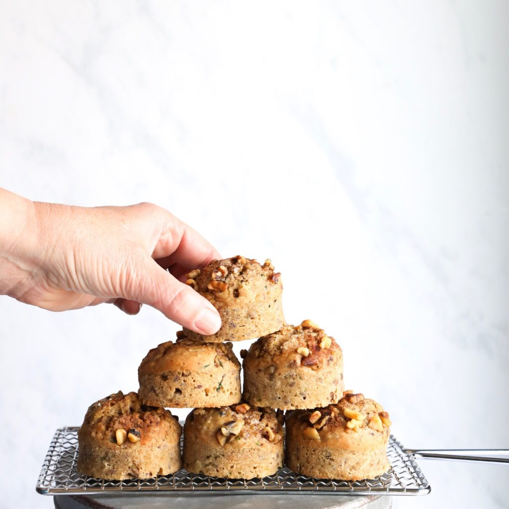 These easy to make gluten-free paleo muffins are made without refined sugar, or dairy and use simple ingredients like almond flour, eggs, powdered peanut butter and chocolate chips.
