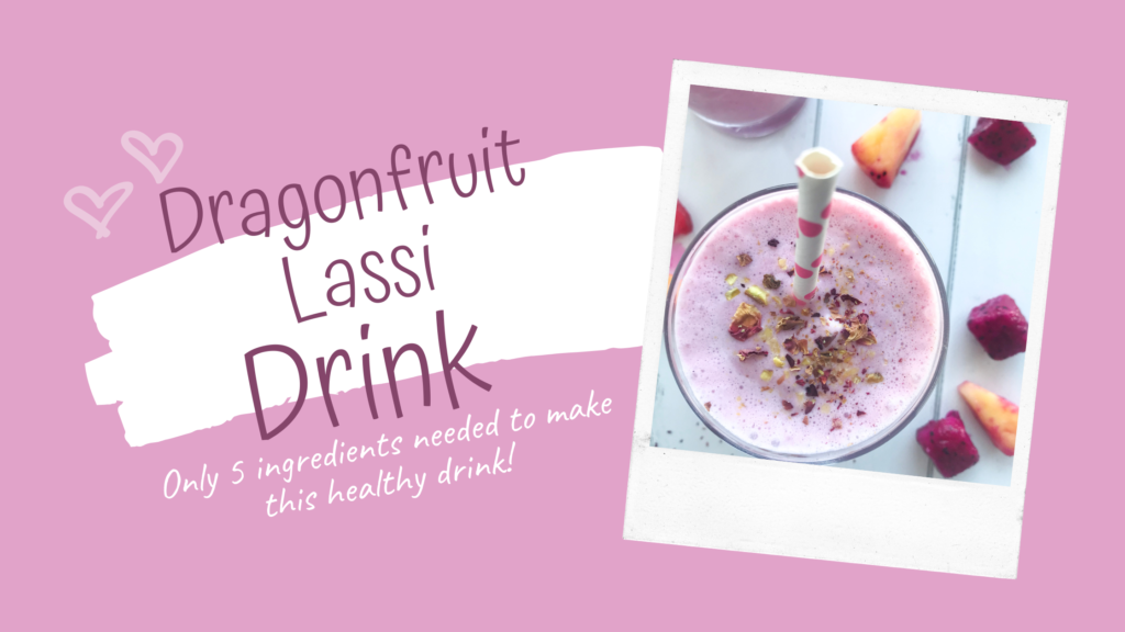 Made with just 5 ingredients this refreshing and healthy gluten-free drink is a fruity version of a traditional Indian lassi drink.