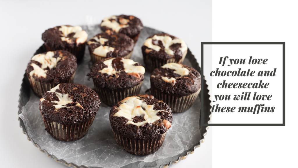 These keto chocolate cheesecake muffins are the perfect gluten-free low carb  treat that you can enjoy anytime of the day.