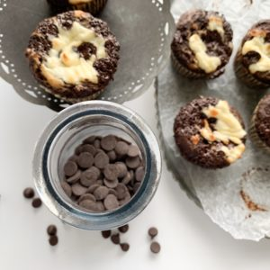 These keto chocolate cheesecake muffins are the perfect gluten-free low-carb treat anytime of the day.