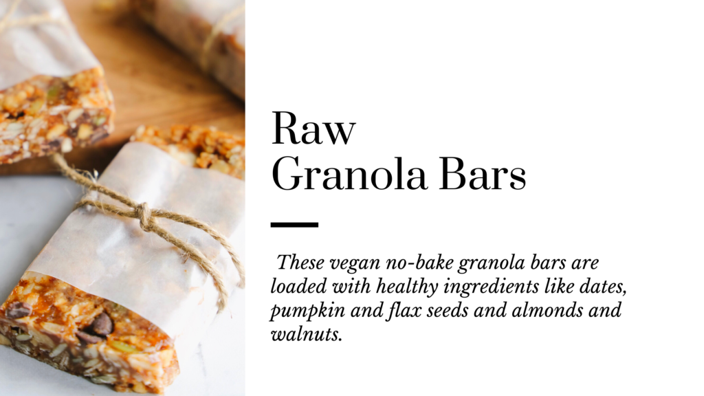 These vegan no-bake gluten-free granola bars are loaded with healthy ingredients like dates, pumpkin and flax seeds and almonds and walnuts.