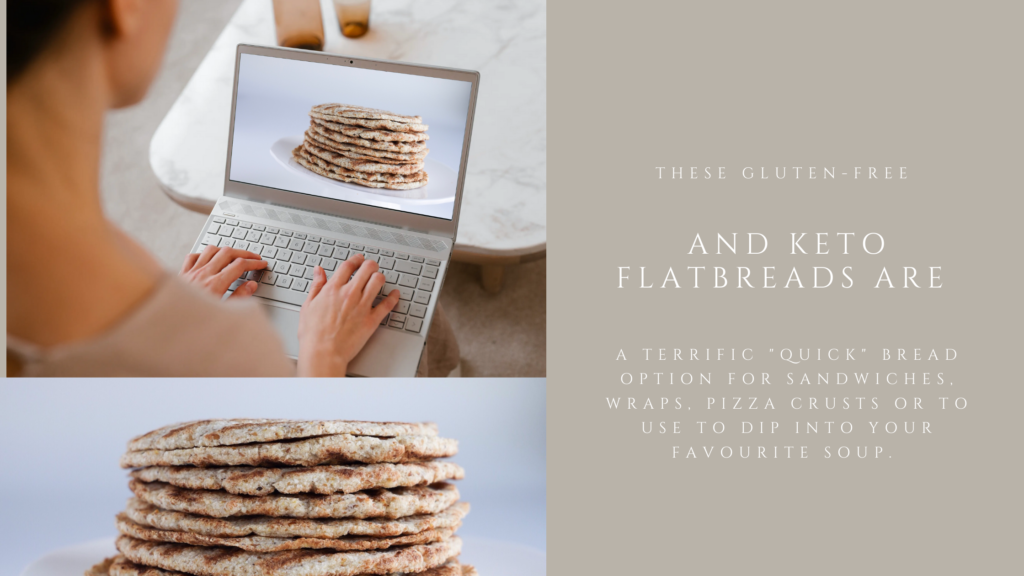 This gluten-free and keto flatbread is soft and flexible and a great low-carb bread option.