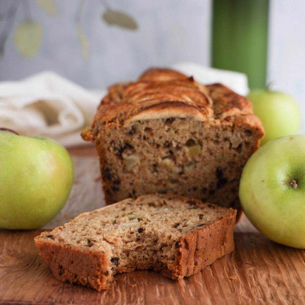 Chunks of apple and bits of nuts in this easy gluten-free quick bread recipe.