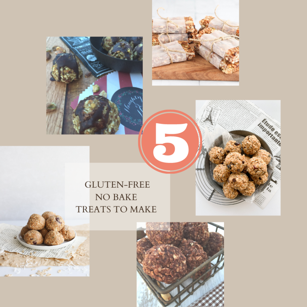 5 gluten-free no bake treat that are a must to make in the summertime.
