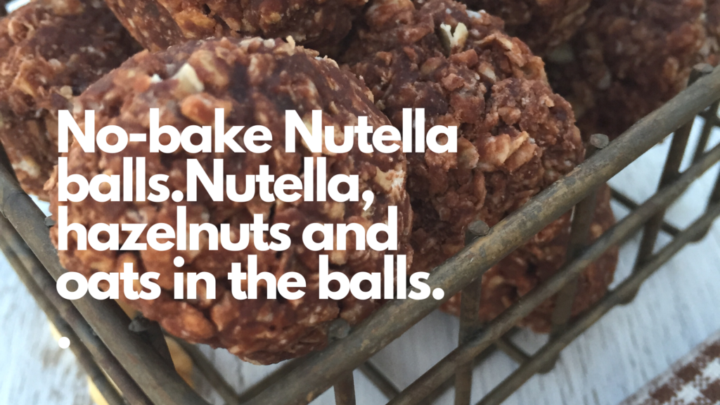 Gluten and dairy-free no bake Nutella balls are easy to make and are full of chocolate.