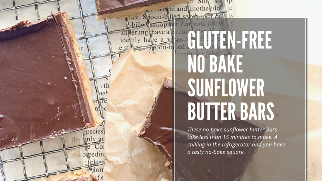 These gluten-free no bake sunflower butter bars are easy to make and use only a few simple ingredients.