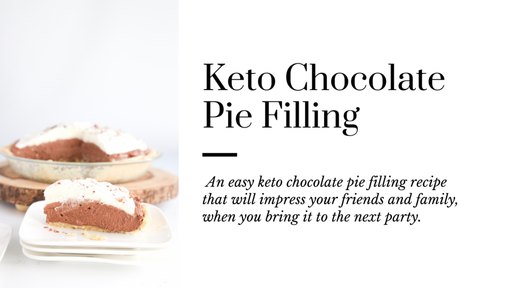 This keto chocolate pie filling is simply incredible.