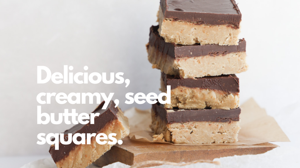 These gluten-free no bake sunflower butter bars are easy to make and use a few simple ingredients.