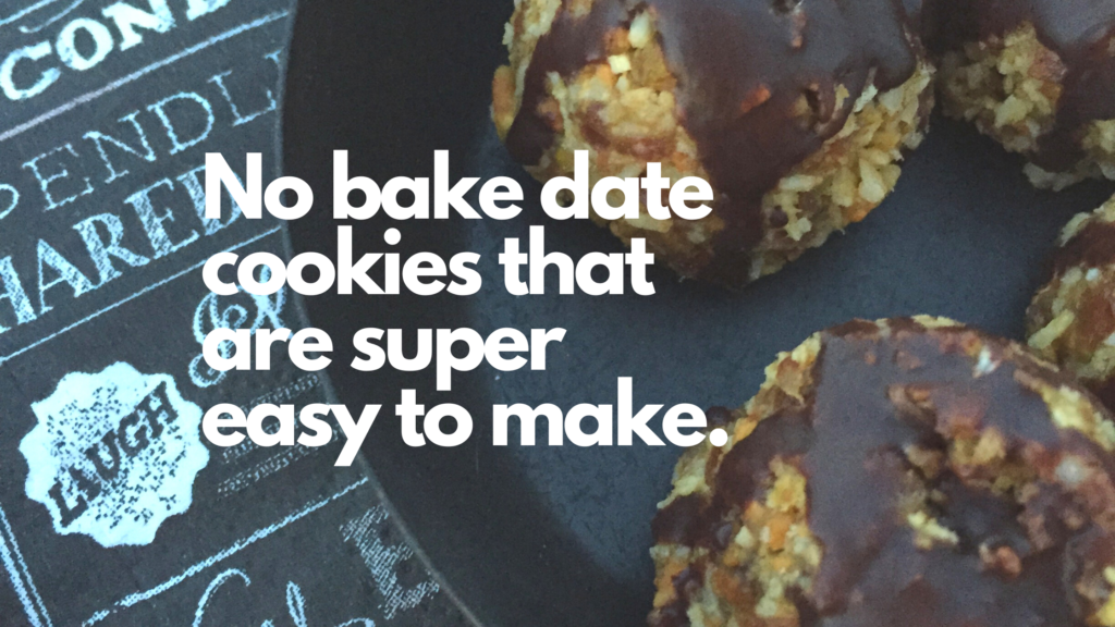 No bake gluten-free date cookies that only require 4 ingredients.