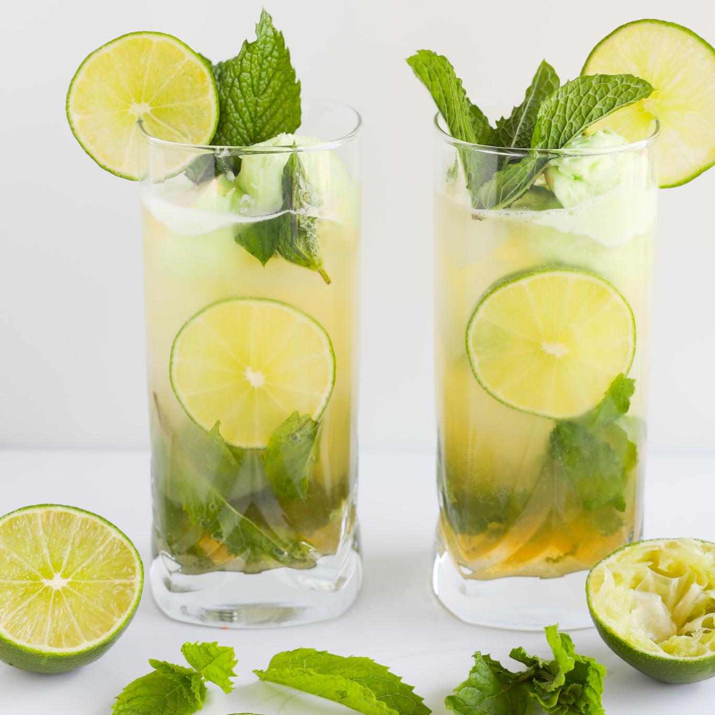 Lime Mojito Sherbet Cocktail